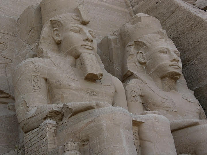 Abu Simbel, Temple of Rames II and his Queen