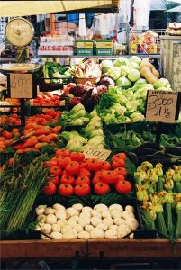 Fresh vegetable market in Rome