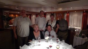 5 star dining aboard SeaDream with a visit from the chef