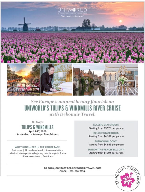Debonair's Uniworld Tulips & Windmills River Cruise