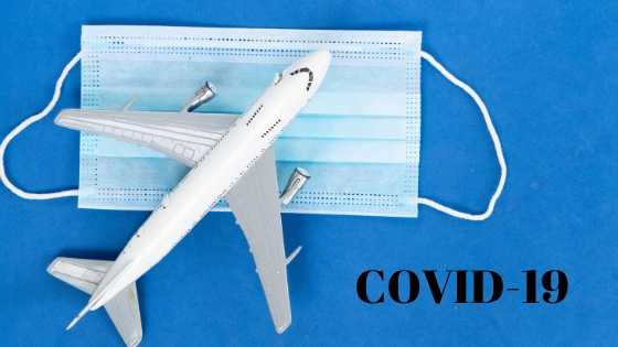 AIRPLANE, MASK AND COVID-19